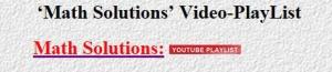 Math Solution-Videos-1